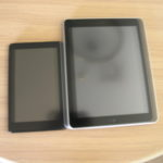 Kindle Fire and iPad 1 face
