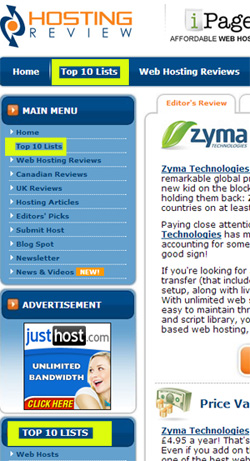 hosting-review-zyma-page