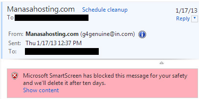 manashosting spam